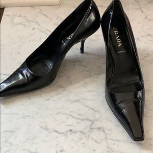 Authentic Prada Black Heels - Size 37